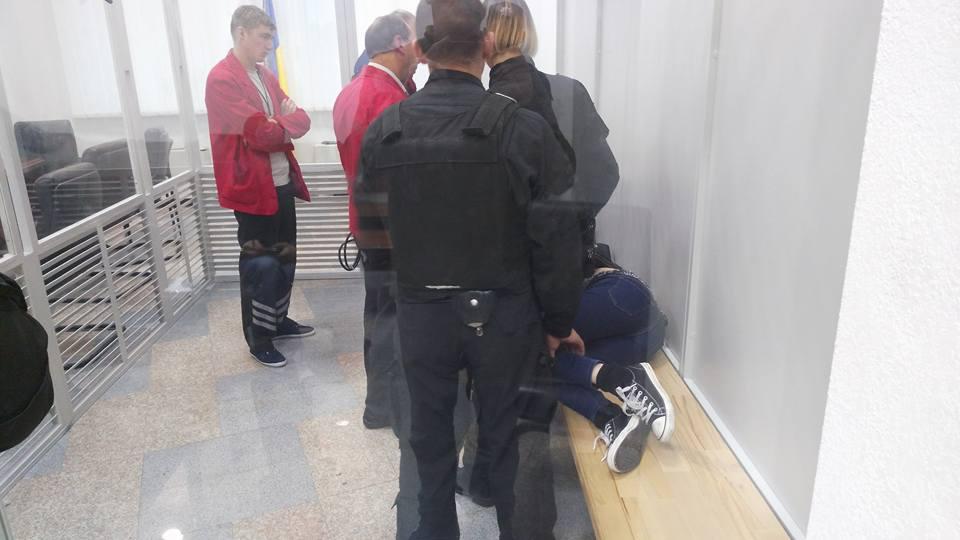 Блищик: В итоге столкновений под апелляционным судом столицы Украины задержали четырех человек