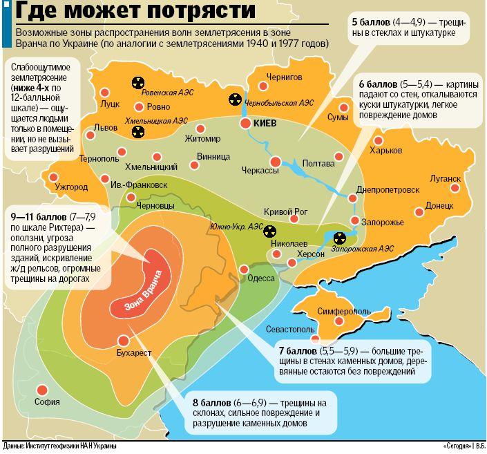Картинки по запросу Украину заденет мощное землетрясение: опубликована карта наиболее опасных районов