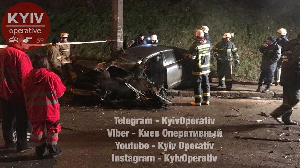 УКиєві зіткнулися іномарки, постраждали 4 людини