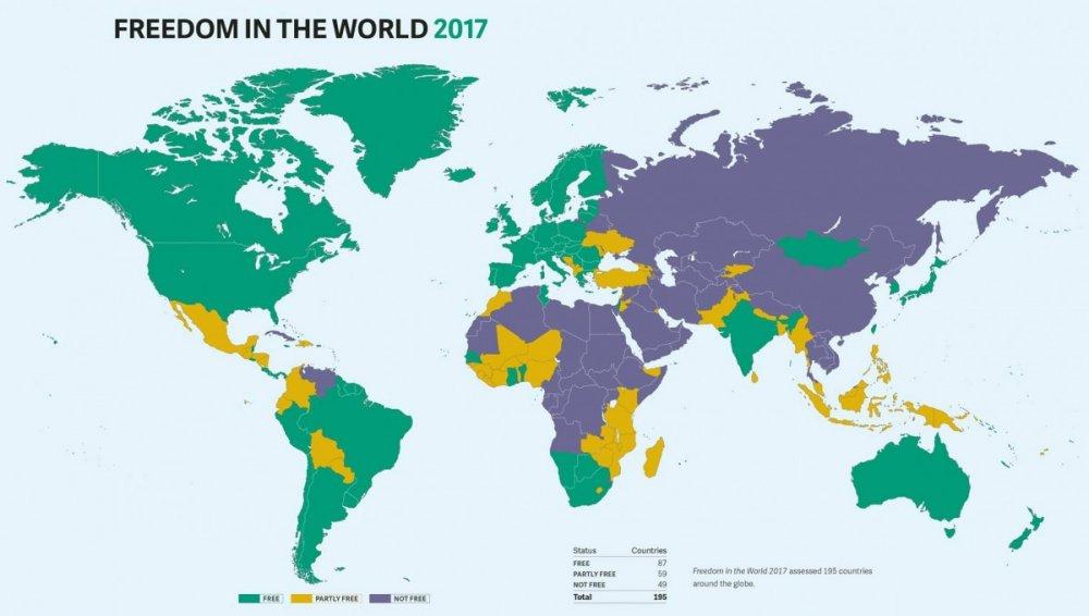 Freedom House вычеркнул Крым скарты Украины