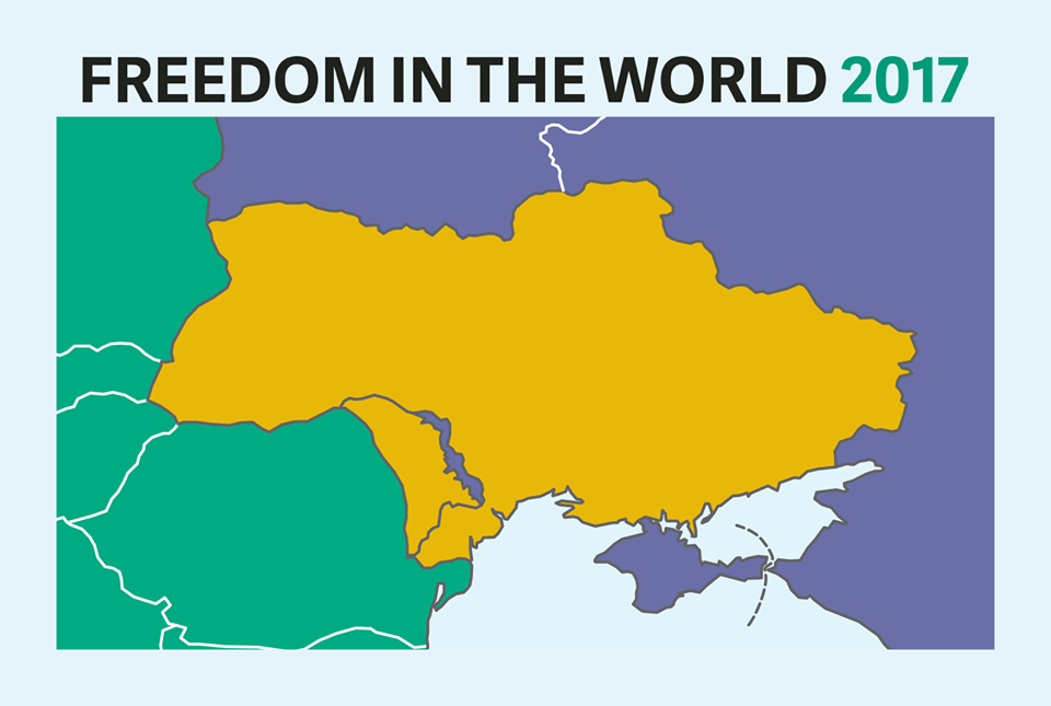 Freedom House обнародовала карту Украины без Крыма