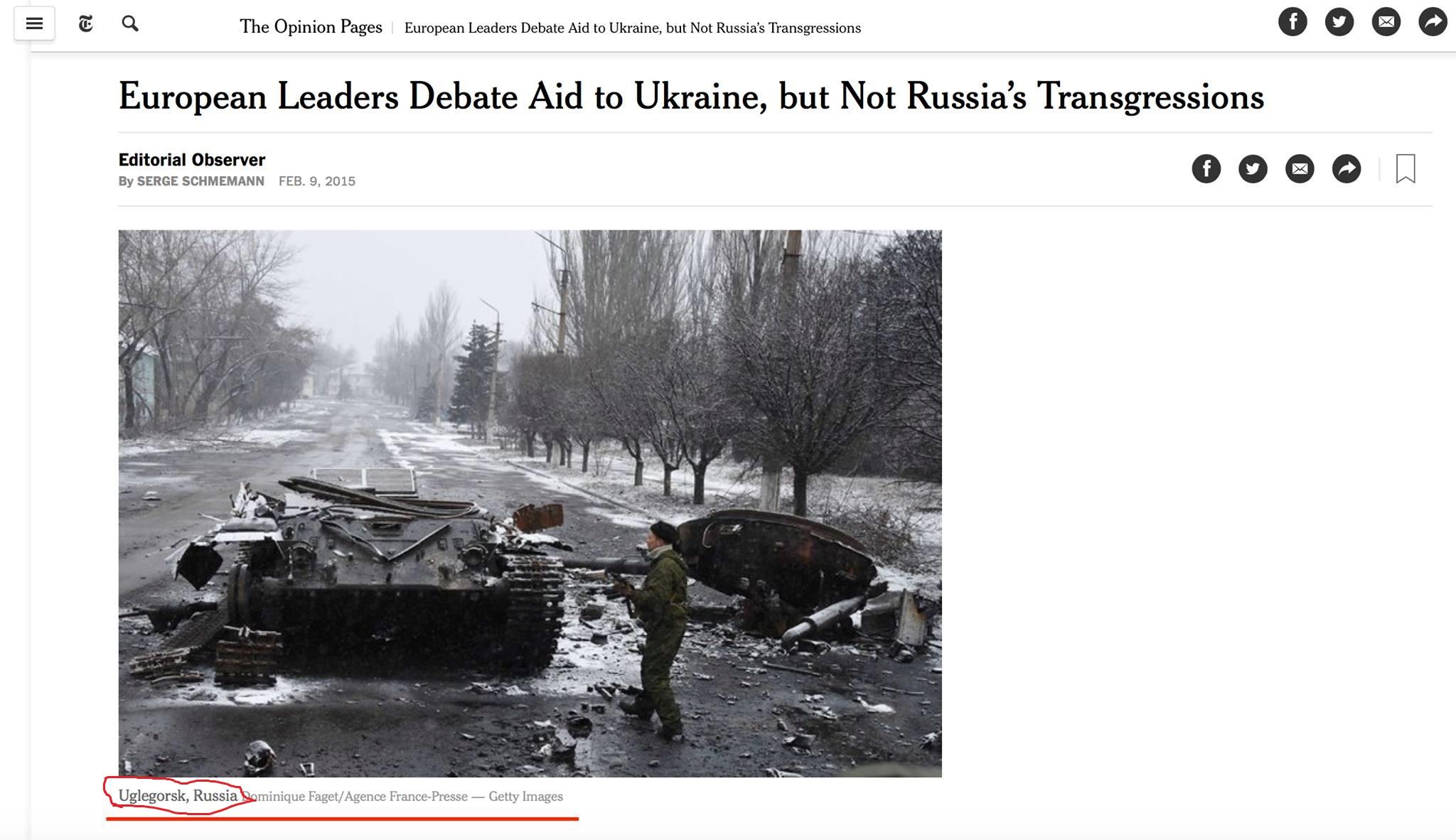 """""""Помилка має бути виправлена!"""" - українське посольство в США закликало The New York Times виправити опубліковану карту України без Криму - Цензор.НЕТ 6701"""