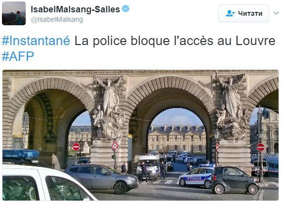 Милиция Франции установила личность напавшего напатрульных уЛувра
