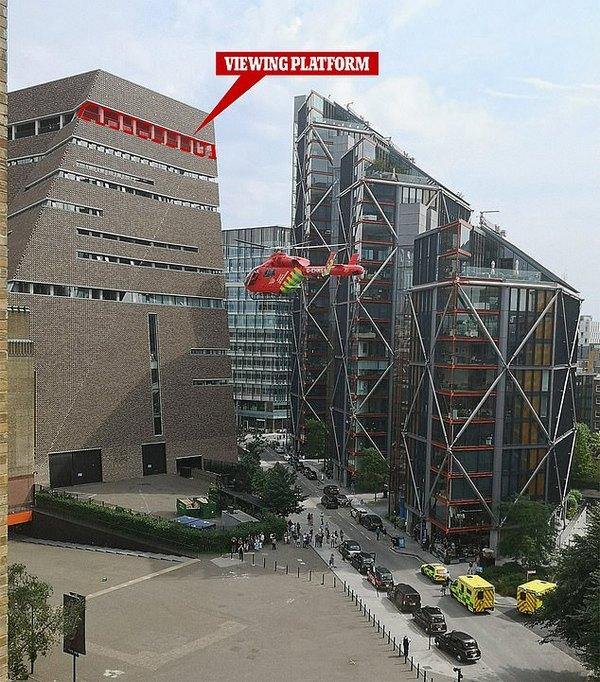 Встолице Англии ребенок сбросил маленького мальчика с10-го этажа галереи