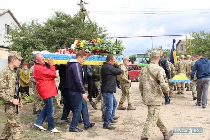ВОдесской области попрощались спогибшим вАТО 24-летнем сапером
