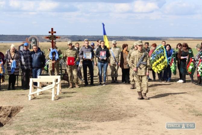 Граждане Лиманского района простились спогибшим вАТО военнослужащим