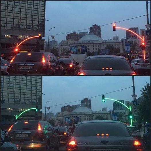 ВКиеве установили необыкновенный светофор
