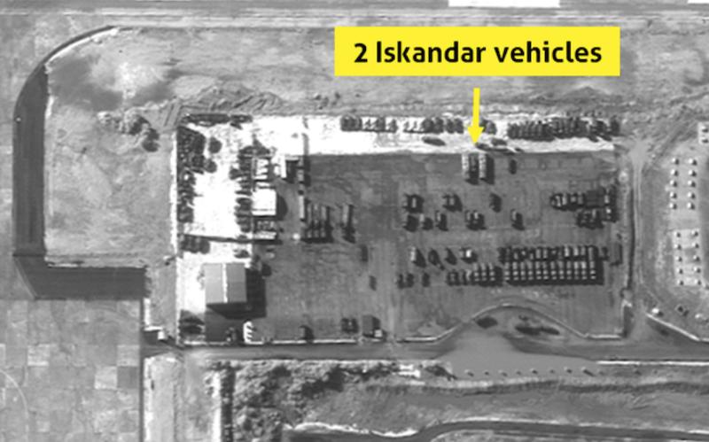 Спутник зафиксировал вСирии русские баллистические ракеты