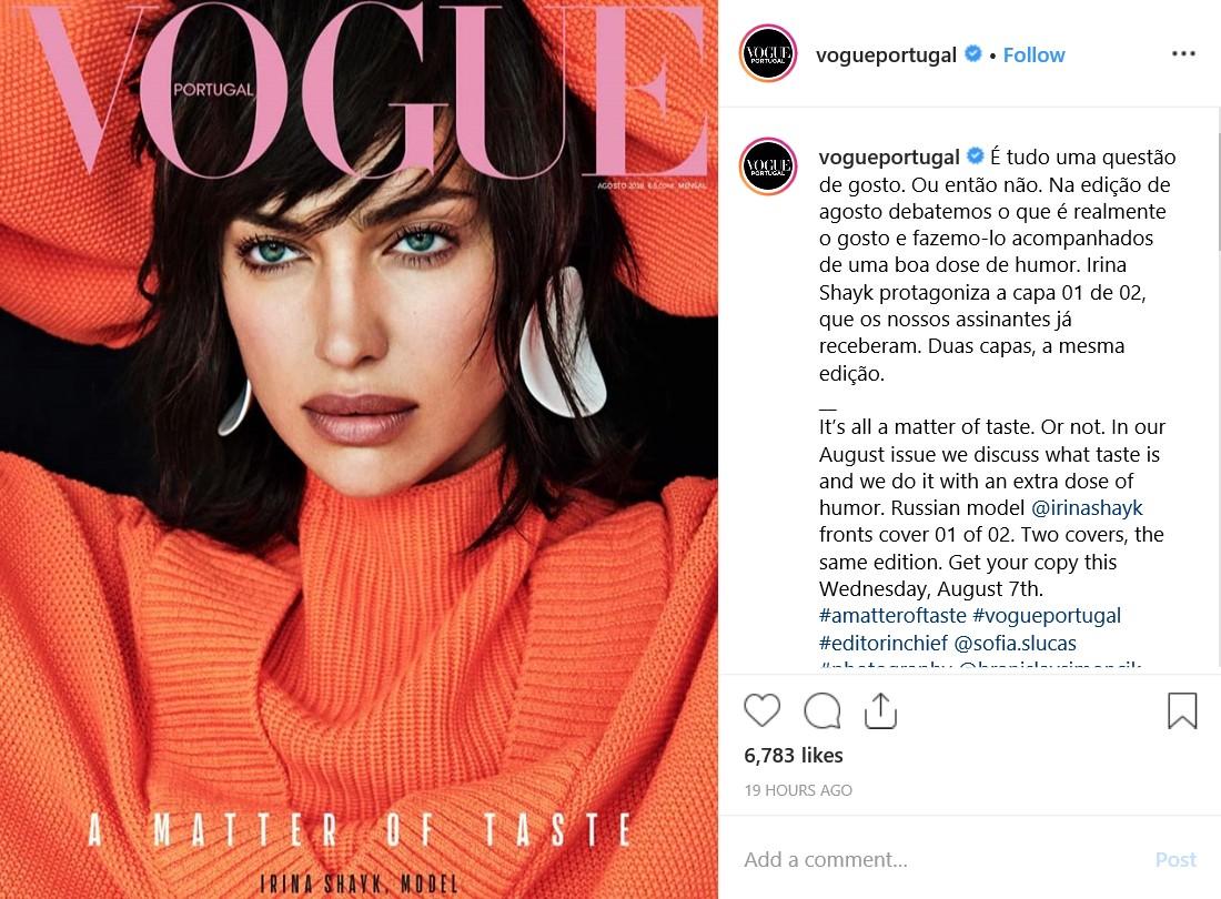 Картинки по запросу Ирина Шейк обложки португальского Vogue