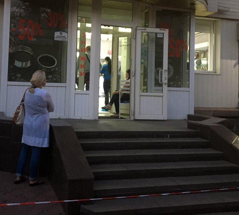 ВКиеве сострельбой ограбили ювелирный магазин