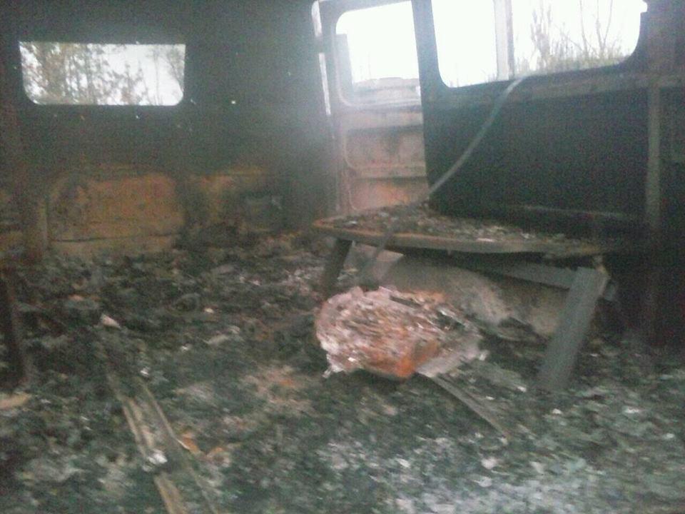 Боевики взорвали карету «скорой» бойцов АТО