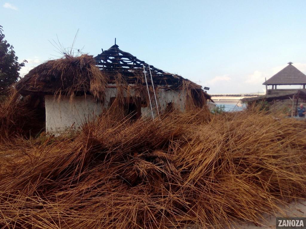 Натерритории музея «Запорожская Сечь» произошел пожар