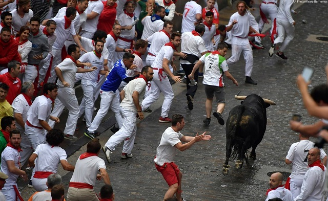 Published brilliant photos and videos of the famous bull festival in Spain 3c4ad6e349032be9b7d9283fd76a32ef