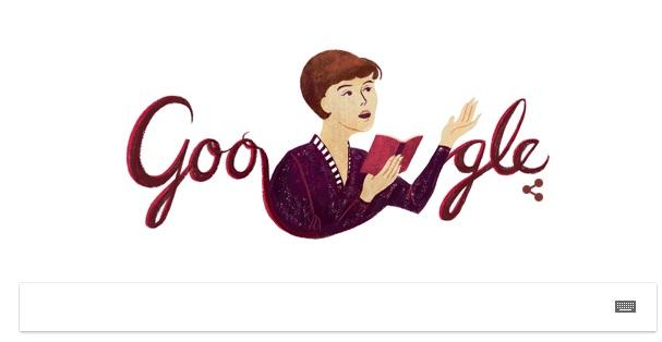 Google создала дудл вчесть 80-летия Ахмадулиной