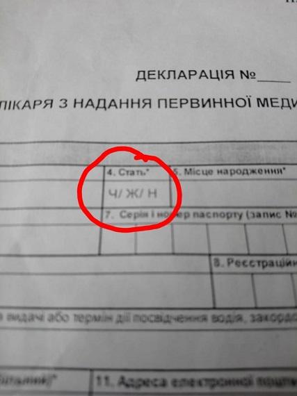 Третя стать: українців вразило питання у декларації  з лікарем