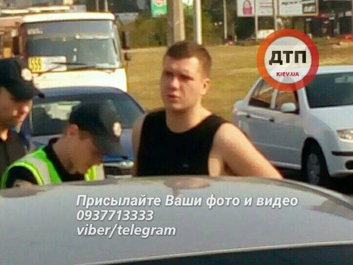 Впьяном ДТП вКиеве изувечено неменее 5-ти авто