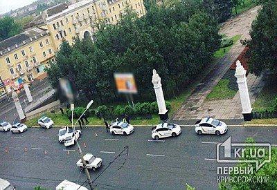 Сразу три патрульные машины попали вкурьезное ДТП вКривом Роге