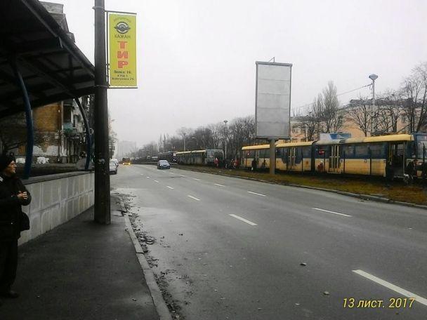 УКиєві наБорщагівці загорівся швидкісний трамвай