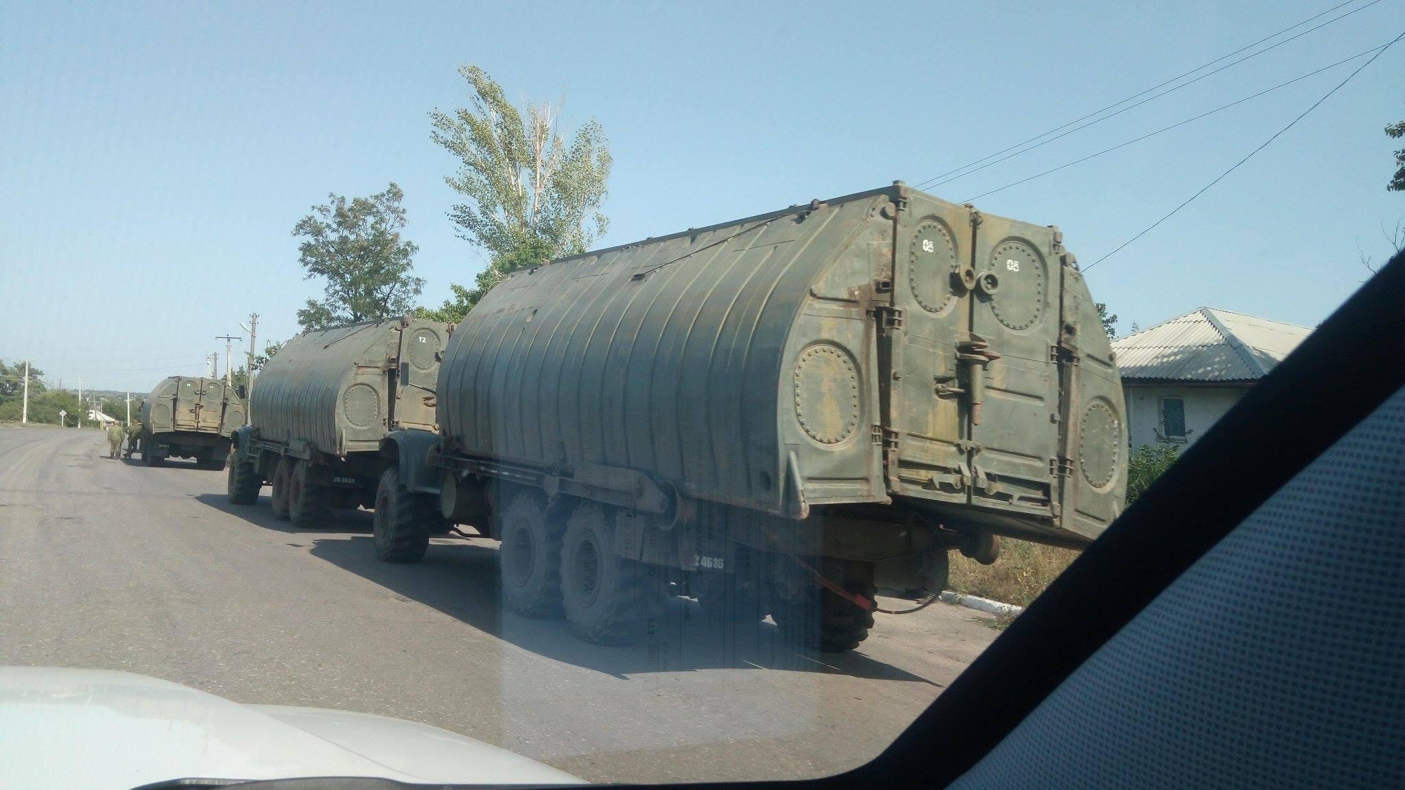 Місія ОБСЄ зафіксувала поблизу Луганська три колони військової техніки