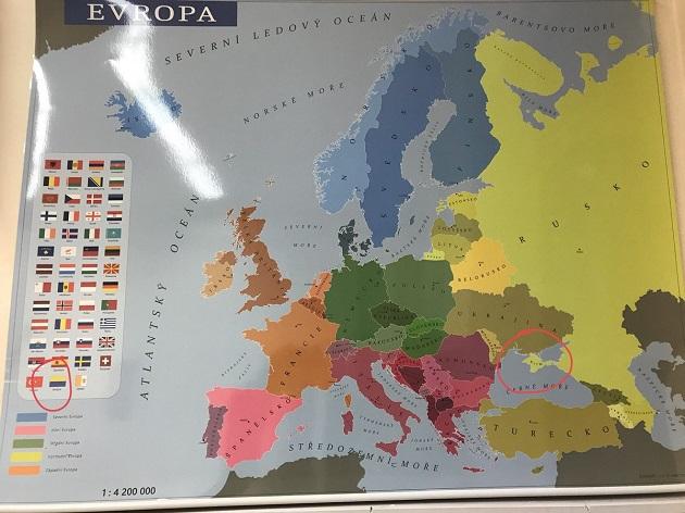Европейские школы закупили карты с русским Крымом