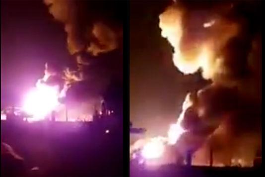 Серия взрывов произошла наскладе газовых баллонов