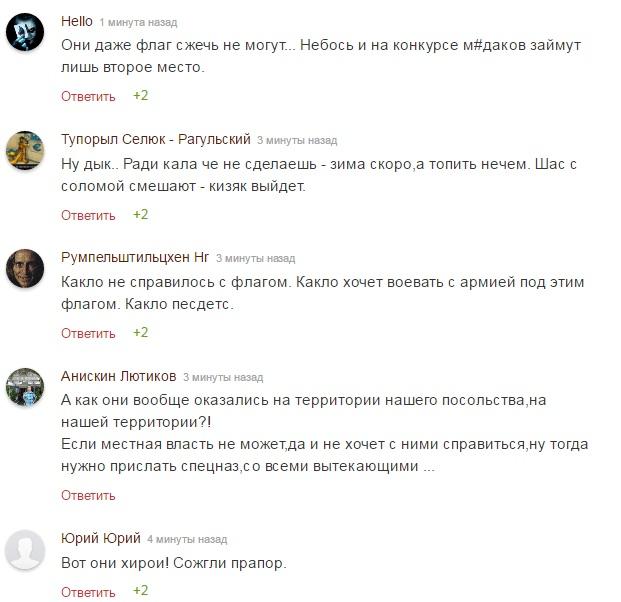 ВКиеве протестующие разошлись отздания посольства Российской Федерации