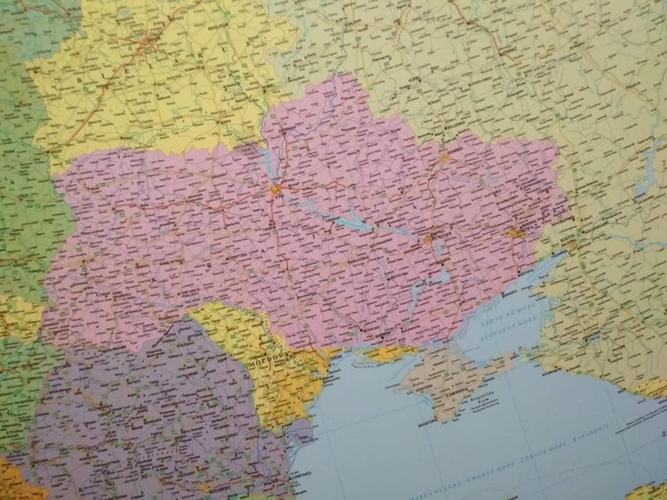 Без Крыма иОдессы: вВенгрии обнаружили необычную карту Украинского государства