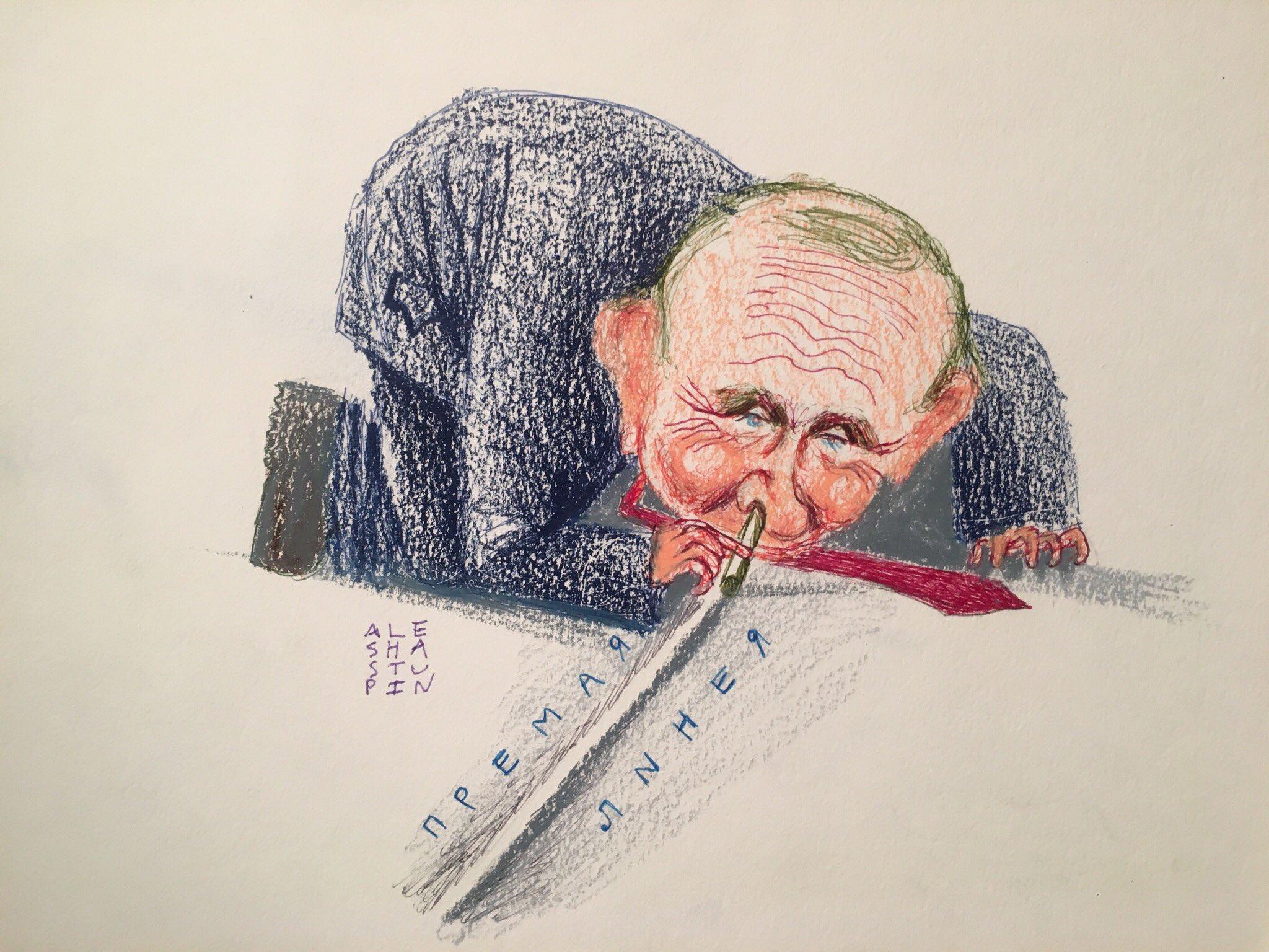 Прямую линию Путина с народом высмеяли новыми карикатурами. ФОТО