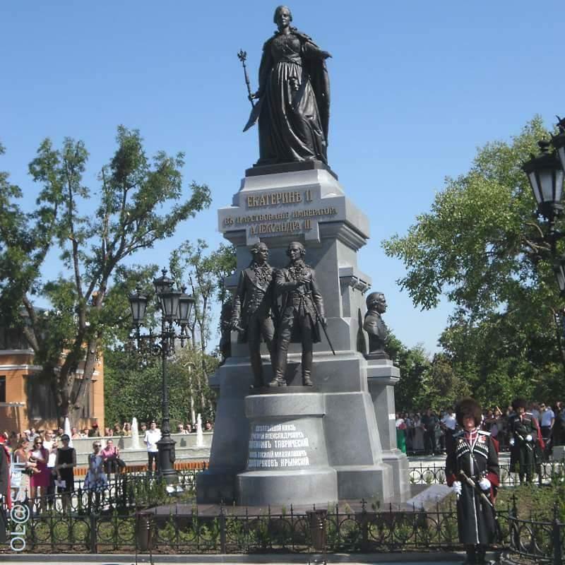 Воккупированном Симферополе открыли монумент русской императрице Екатерине