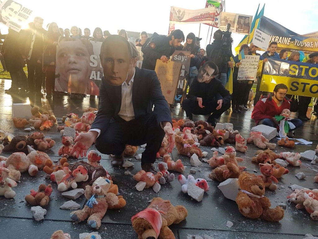 «Стоп Путин!»: как граждане Берлина встречали русского президента