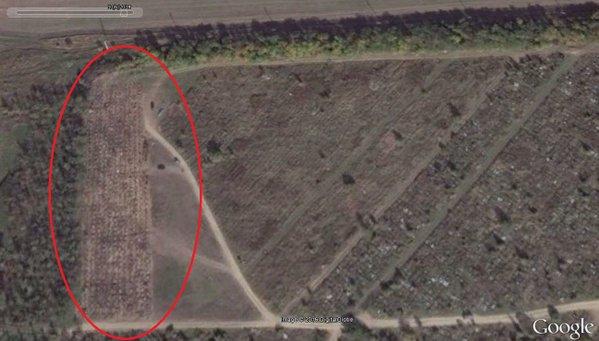 Посол Украины в Латвии показал, как разрослось кладбище у границы Украины