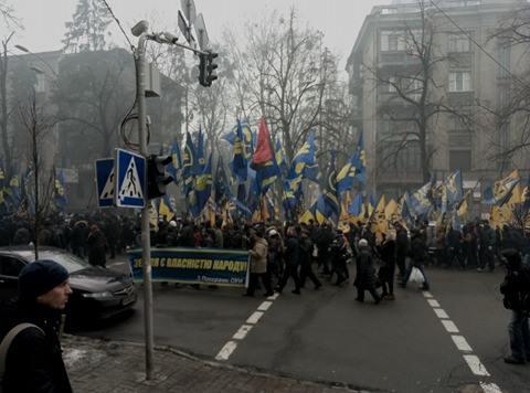 Нацисты проводят вКиеве «Марш государственного достоинства» 22февраля 2017 11:39