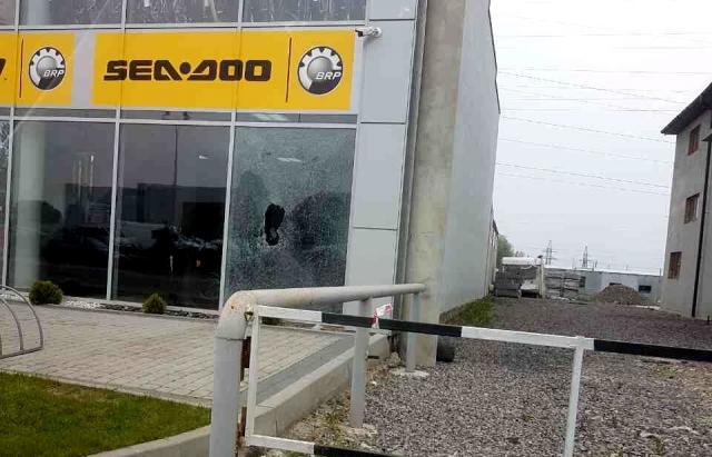 Ввитрину магазина вМукачево прилетела граната