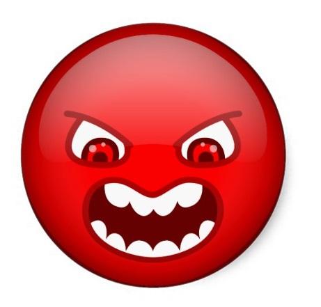 Злой смайл красные глаза