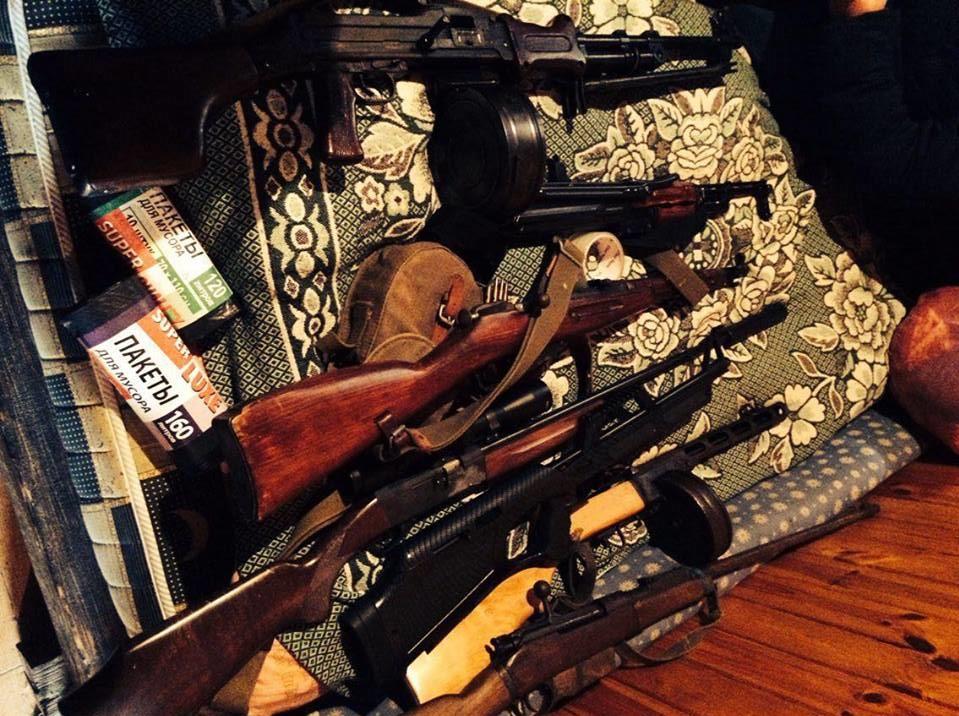 Вквартире укиевлянина милиция нашла схрон оружия