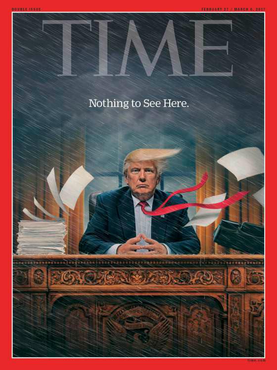 210cc9d05662 Журнал Time опубликовал очередную обложку, посвященную непростым временам в  Белом доме. На новой обложке сентябрьского номера, издание показывает  овальный ...