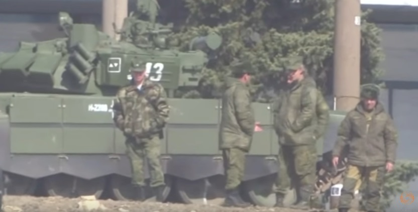 Появилось видео сдесятками русских танков награнице с государством Украина