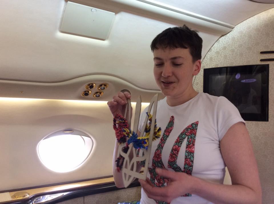 Самолет сНадеждой Савченко вылетел встолицу Украины