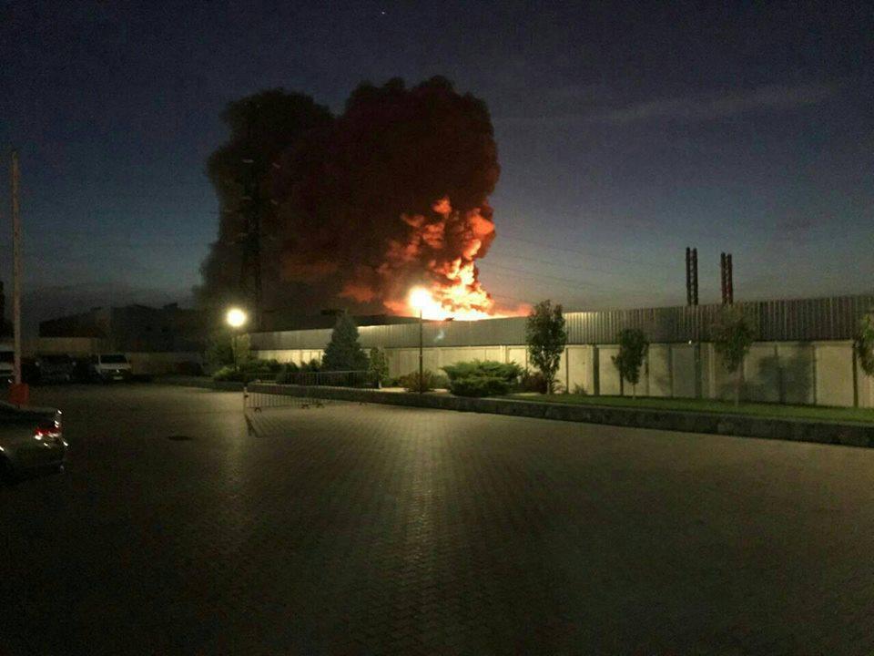 ВБелой Церкви произошел пожар на«Биофарм»