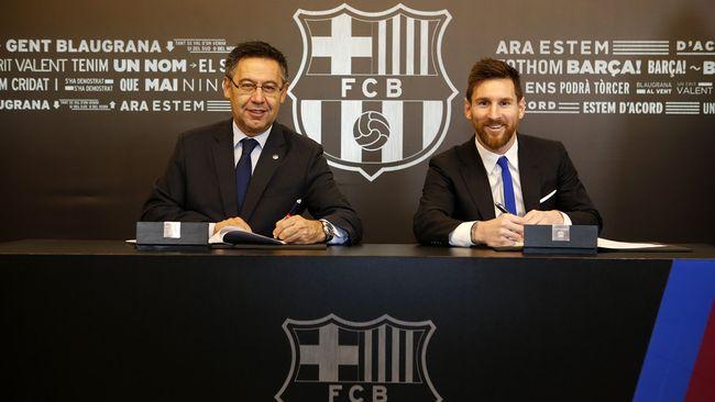 Месси продлил договор с«Барселоной» до 2021г.