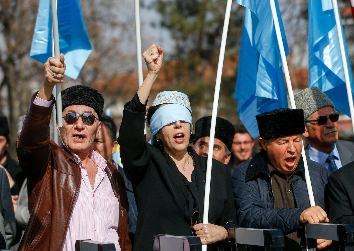 Встолице Турции прошла акция против присоединения Крыма к Российской Федерации