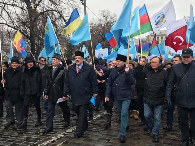 ВКиеве прошел Марш солидарности скрымскотатарским народом