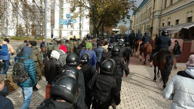 «Конопляный марш» вКиеве закончился потасовкой сполицией