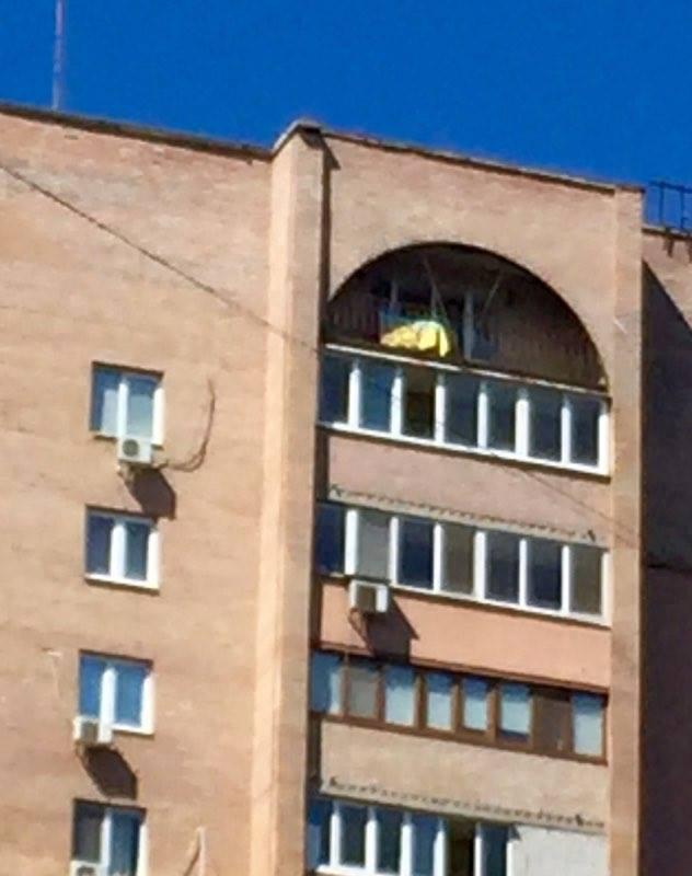 Над квартирой Моторолы вДонецке повесили украинский флаг— Блогер Колесник