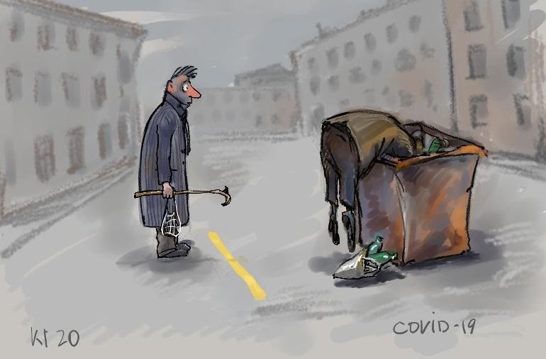 Появилась грустная карикатура на ужесточение карантина в Украине