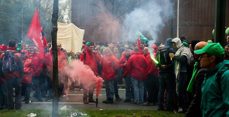 В Брюсселе прошли массовые беспорядки из-за инициативы правительства сократить социальные льготы