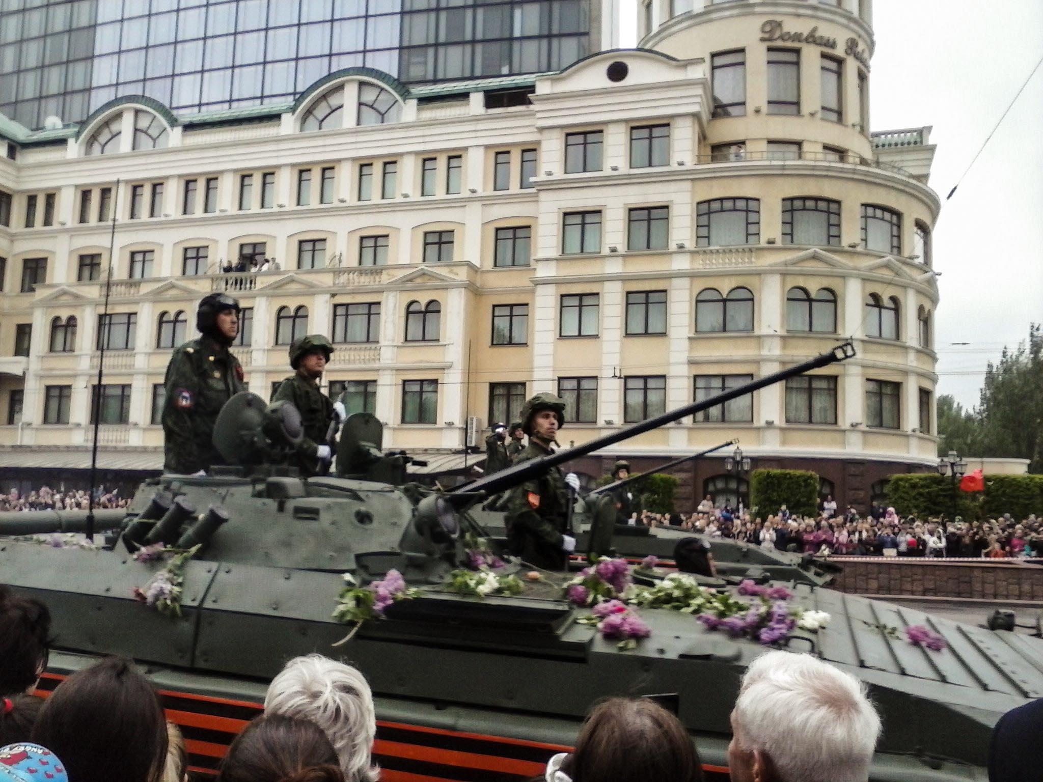 В оккупированном Донецке провели парад