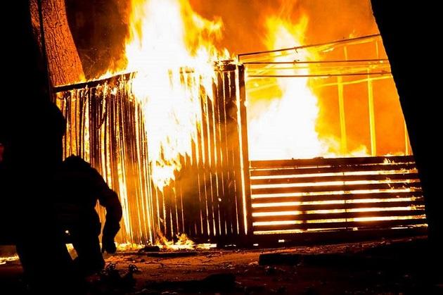 ВДнепре сгорела часть пиццерии ветерана АТО