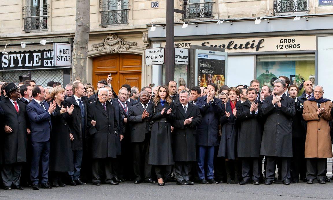 В стране прошел марш единства в память о жертвах терактов при участии мировых лидеров