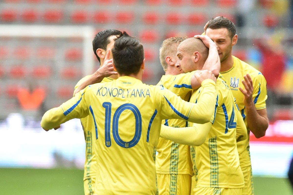 Сборная Украины провела товарищеский матч против участника ЧМ-2018